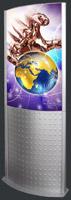 Световой короб напольная панель Eclips Totem 36 мм двусторонняя